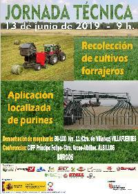 Jornada técnica sobre recolección de cultivos forrajeros y aplicación localizada de purines